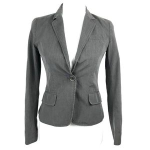 Theory Gray One Button Blazer Jacket Size 2